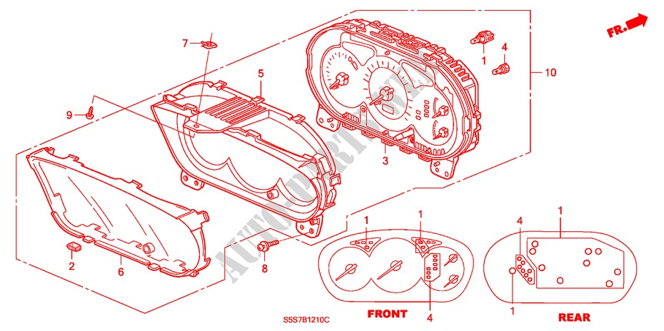 METER COMPONENTS (NS) (1) for Honda Cars CIVIC TYPE R 3