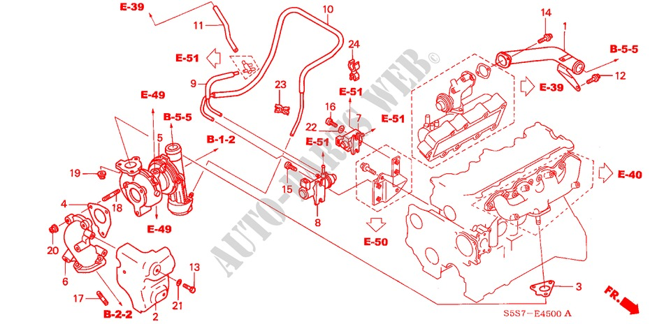 TURBOCHARGER SYSTEM (DIESEL) for Honda Cars CIVIC 1 7S 3