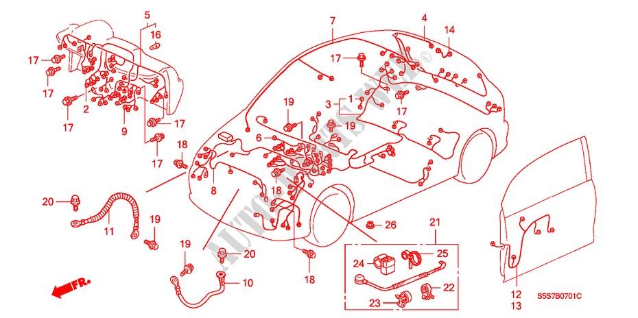 2002 Honda Civic Wiring Harnes