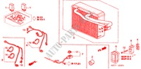 AIR CONDITIONER (COOLING UNIT) (RH) ACCESSORIES CIVIC honda-cars 2005 TYPE R     PREMIUM BOP0401