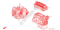 ENGINE ASSY./TRANSMISSION  ASSY. (1.4L/1.6L) for Honda Cars CIVIC 1.6 SPORT 3 Doors 5 speed manual 2005