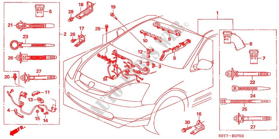 engine wire harness type r rh engine type r premium 2005. Black Bedroom Furniture Sets. Home Design Ideas