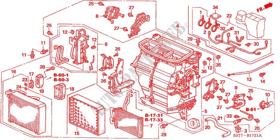 Heater Unit  Rh  For Honda Cars Civic Type R 3 Doors 6 Speed Manual 2005   Honda Cars