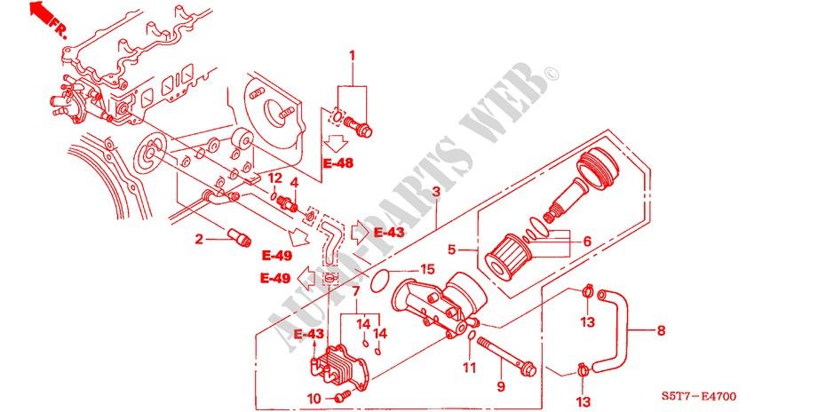honda cars civic 2005 17 sport engine oil cooler oil filter diesel honda cars civic 2005 1 7 sport 5 speed manual engine oil cooler oil filter
