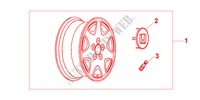 ALLOY WHEEL 7 SPOKE for Honda Cars STREAM 2.0ES 5 Doors 5 speed manual 2001