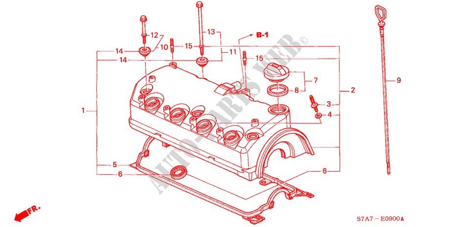 honda cars stream 2003 1 7es 5 speed manual engine cylinder head cover (1 7l