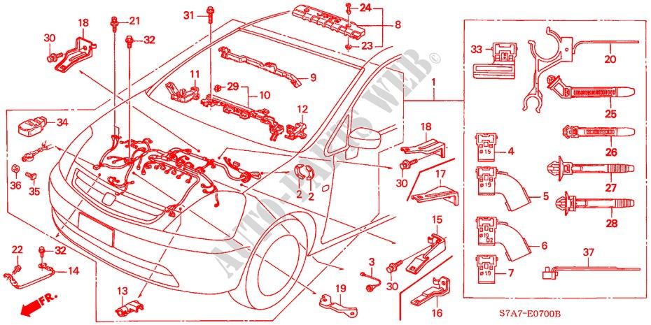 engine wire harness 17l engine 17ls 2003 stream honda cars. Black Bedroom Furniture Sets. Home Design Ideas