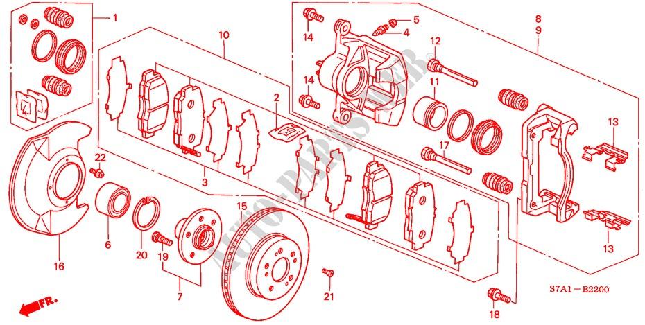 Front Brake For Honda Cars Stream 1 7ls 5 Doors 5 Speed