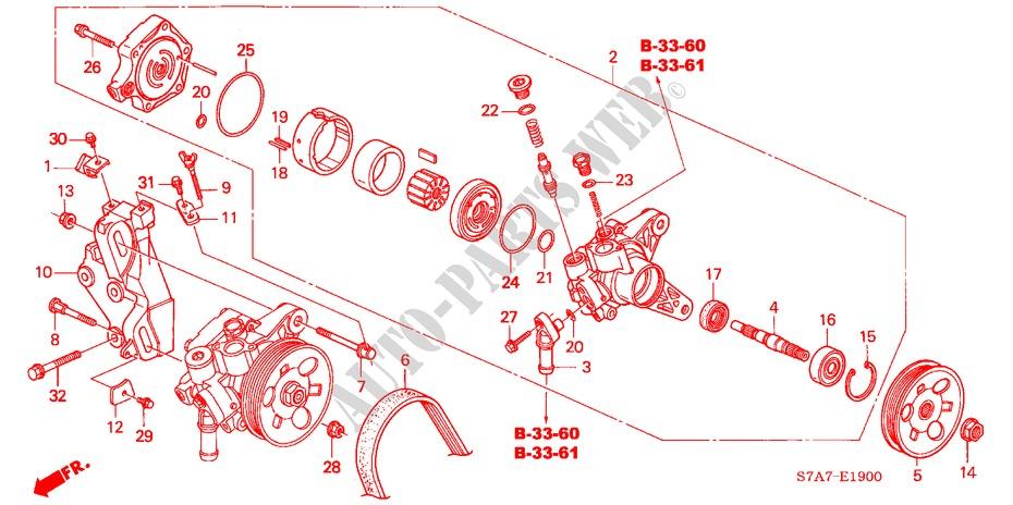 power steering pump bracket 17l engine 17ls 2003 stream honda cars rh parts honda uk 2004 Honda Civic Ex Engine 04 Honda Civic Engine