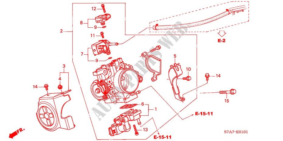 Throttle Body  2 0l  For Honda Cars Stream 2 0se Sport 5