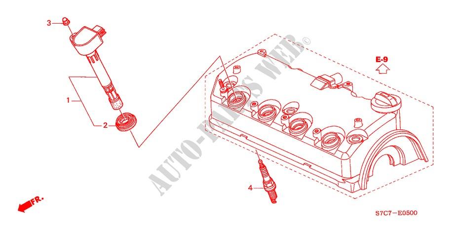 ignition coil 17l engine es 2005 stream honda cars honda cars rh parts honda uk Honda Civic Engine Identification Honda 1.7L Engine Diagram 02