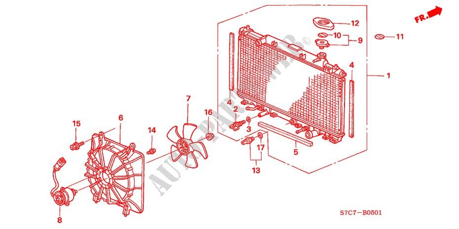 RADIATOR 20L ELECTRICAL EQUIPMENTS EXHAUST HEATER 20 ES 2005 STREAM ...