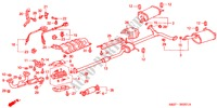 EXHAUST PIPE (V6) ELECTRICAL EQUIPMENTS, EXHAUST, HEATER ACCORD COUPE honda-cars 1999 3.0IV6 B__0201