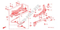 FRONT SEAT COMPONENTS (L.)(1) for Honda Cars ACCORD COUPE 3.0IV6 2 Doors 4 speed automatic 2002