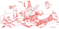 FRONT SEAT COMPONENTS (R.)(2) for Honda Cars ACCORD COUPE 3.0IV6 2 Doors 4 speed automatic 2002