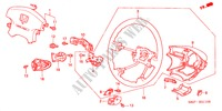 STEERING WHEEL (SRS)(L4) STEERING, BRAKE, SUSPENSION ACCORD COUPE honda-cars 2000 2.0IES B__3110
