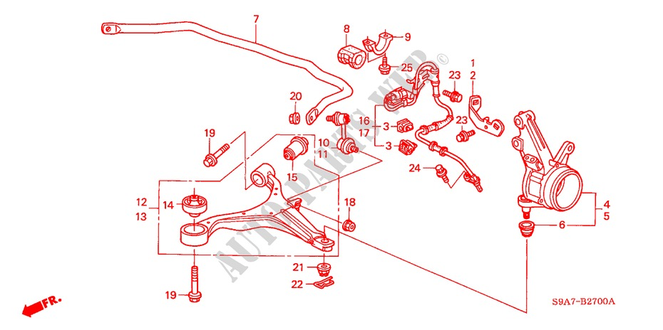 Honda Crv Front Suspension Diagram - General Wiring Diagram