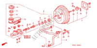 BRAKE MASTER CYLINDER/ MASTER POWER (RH) STEERING, BRAKE, SUSPENSION CR-V honda-cars 2006 SE B__2401