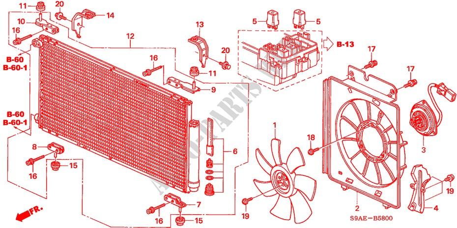 Air Conditioner  Condenser  For Honda Cars Cr