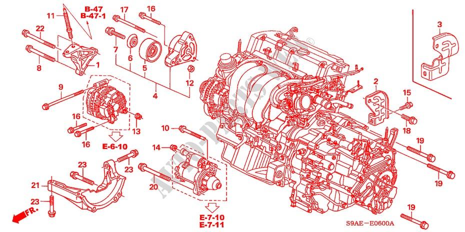 Engine Mounting Bracket For Honda Cars Cr V Rv I 5 Doors 5 Speed