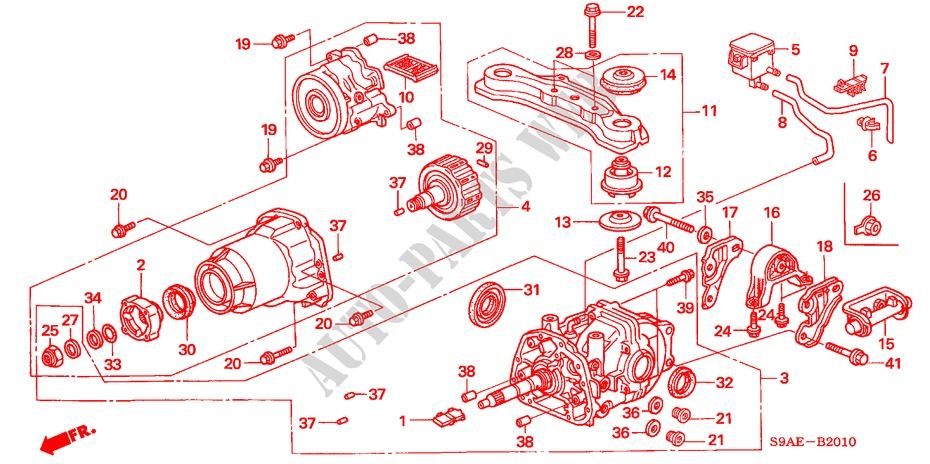REAR DIFFERENTIALMOUNT for    Honda    Cars    CR      V    RVI 5 Doors 5