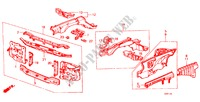 BODY STRUCTURE COMPONENTS (1) for Honda Cars ACCORD STD 4 Doors 5 speed manual 1982