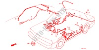 WIRE HARNESS (3) for Honda Cars ACCORD STD 4 Doors 5 speed manual 1982