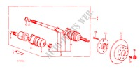 DRIVESHAFT for Honda Cars JAZZ DX 3 Doors 5 speed manual 1984