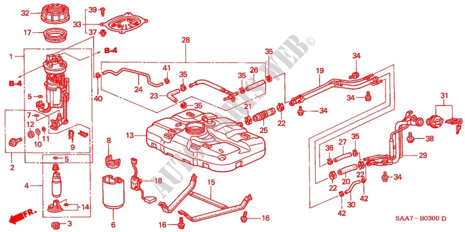 Fuel Tank For Honda Cars Jazz 1 4ses 5 Doors 5 Speed