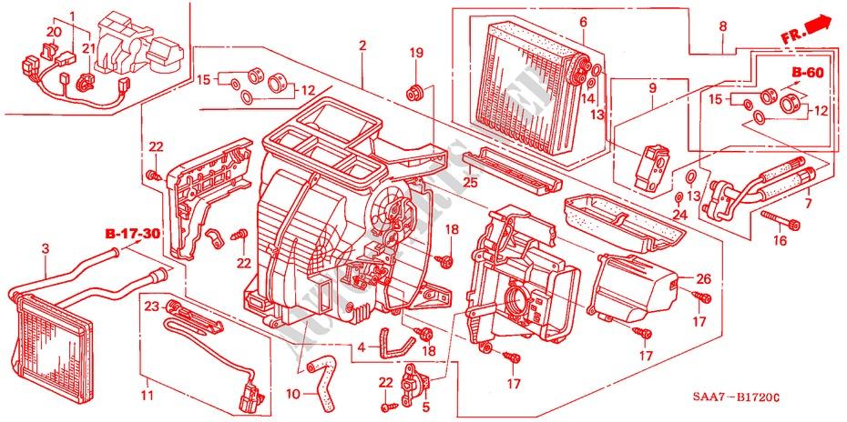 Heater Unit  Lh  For Honda Cars Jazz 1 4es 5 Doors 5 Speed