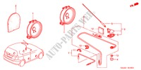 ANTENNA/SPEAKER (RH) for Honda Cars JAZZ 1.2 E 5 Doors 5 speed manual 2005