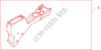 FR ARMRES*NH167L* for Honda Cars JAZZ 1.2 E 5 Doors 5 speed manual 2005