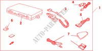 KIT HAND FREE TEL for Honda Cars JAZZ 1.2 E 5 Doors 5 speed manual 2005