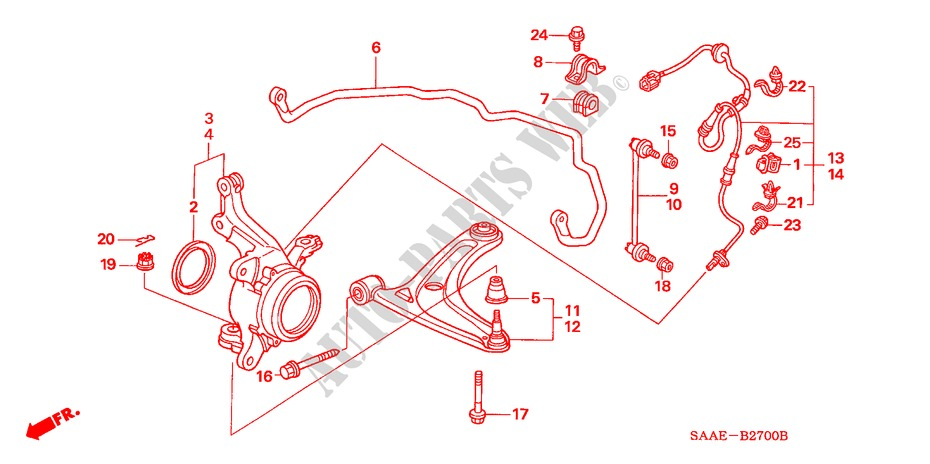 Front Stabilizer   Front Lower Arm For Honda Cars Jazz 1 4