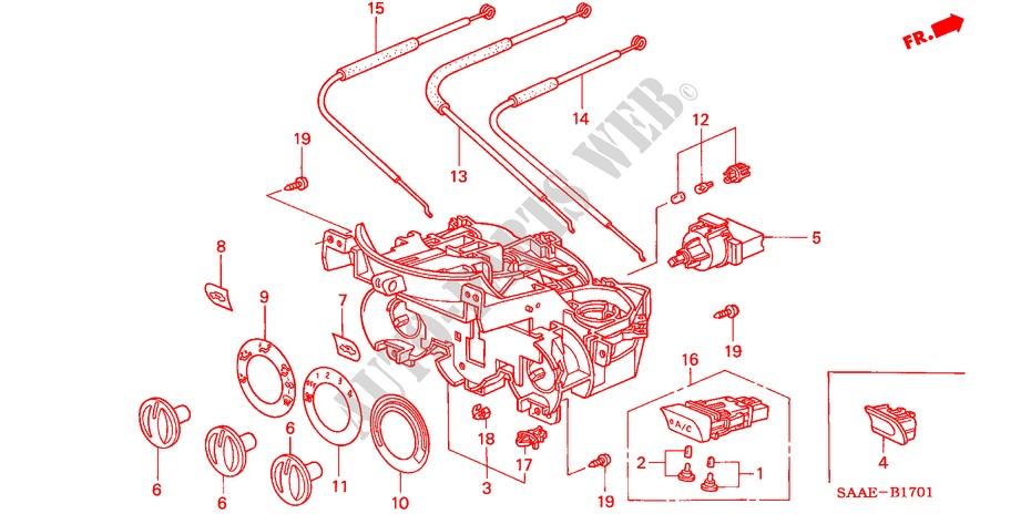Heater Control  Rh  For Honda Cars Jazz 1 4 S 5 Doors 5
