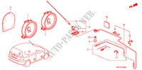 ANTENNA/SPEAKER (LH) ELECTRICAL EQUIPMENTS, EXHAUST, HEATER JAZZ honda-cars 2007 1.2 C-S B__1600