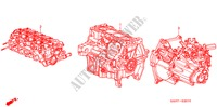 ENGINE ASSY./TRANSMISSION  ASSY. for Honda Cars JAZZ 1.2 S-S 5 Doors 5 speed manual 2007