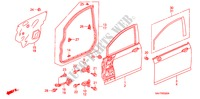 FRONT DOOR PANELS for Honda Cars JAZZ 1.2 S-S 5 Doors 5 speed manual 2007