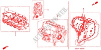 GASKET KIT for Honda Cars JAZZ 1.2 S-S 5 Doors 5 speed manual 2007
