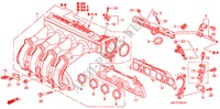 INTAKE MANIFOLD (2) for Honda Cars JAZZ 1.2 S-S 5 Doors 5 speed manual 2007