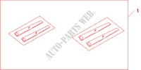 SIDE PANEL STICKER for Honda Cars JAZZ 1.2 S 5 Doors 5 speed manual 2007