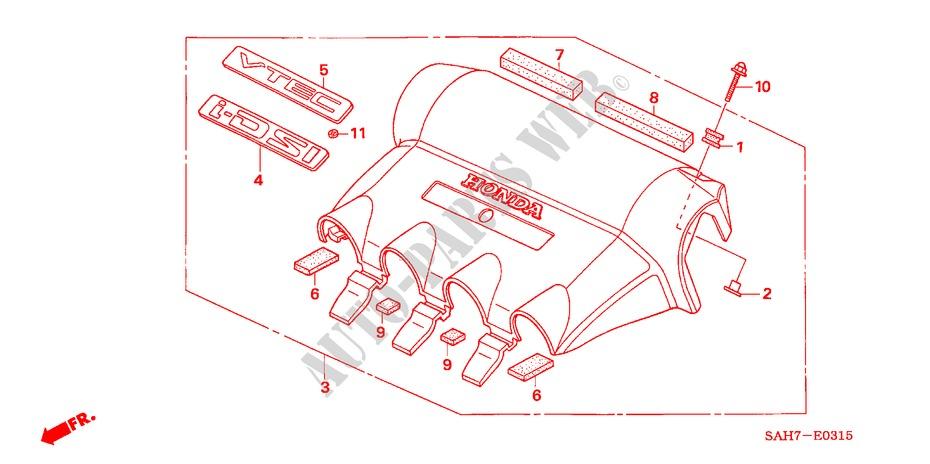 Engine Cover For Honda Cars Jazz 1 4 Se 5 Doors 5 Speed