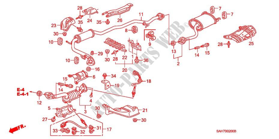 Exhaust Pipe  Silencer For Honda Cars Jazz 1 4 Es 5 Doors 5