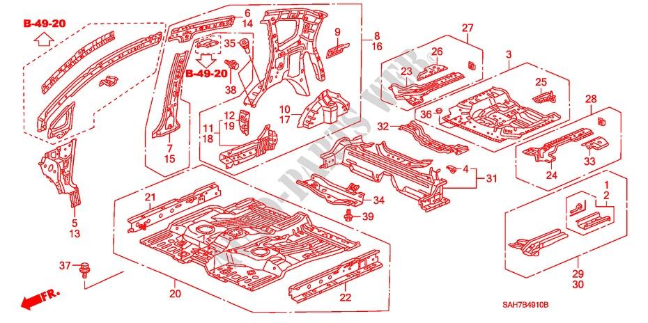 64130-SAA-G00ZZ Pillar Genuine Honda