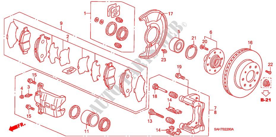Front Brake For Honda Cars Jazz 1 4 Se 5 Doors 5 Speed
