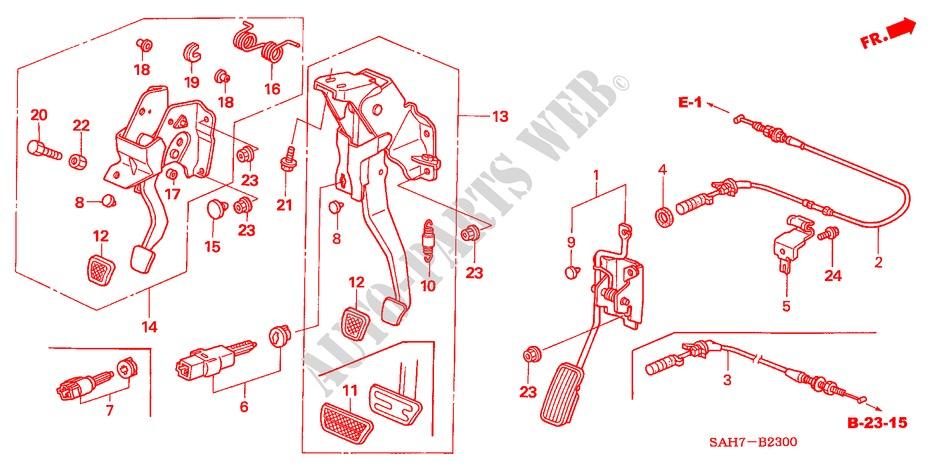 Pedal  Lh  For Honda Cars Jazz 1 2 S
