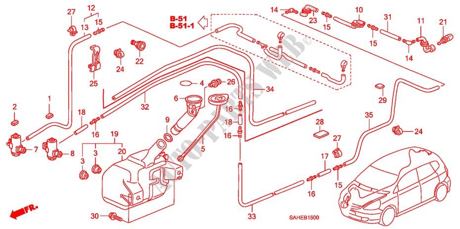 Windshield Washer For Honda Cars Jazz 1 2 Cool 5 Doors 5