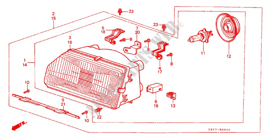 1984 Honda CRX Electrical Troubleshooting Manual Wiring Diagrams 84