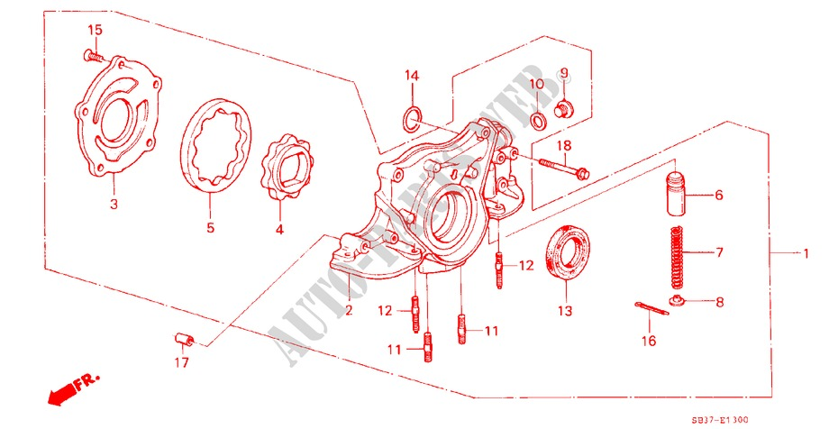 Oil Pump Cover 15112-PE0-010 Genuine Honda
