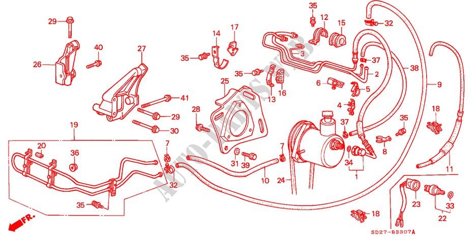 Genuine Honda Power Steering Pump Bracket 56998-PE0-010